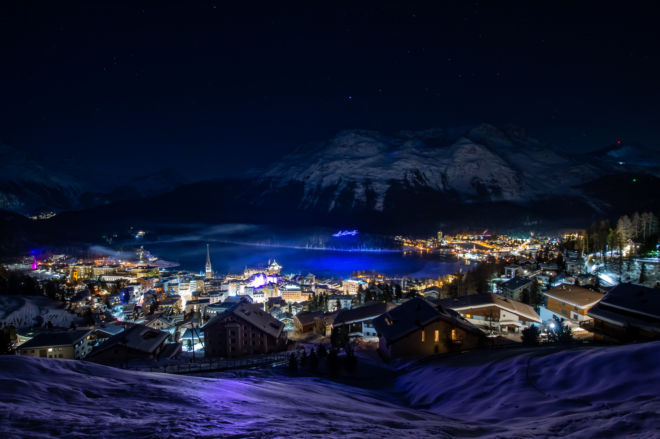 New Year Drone Show St.Moritz 2020