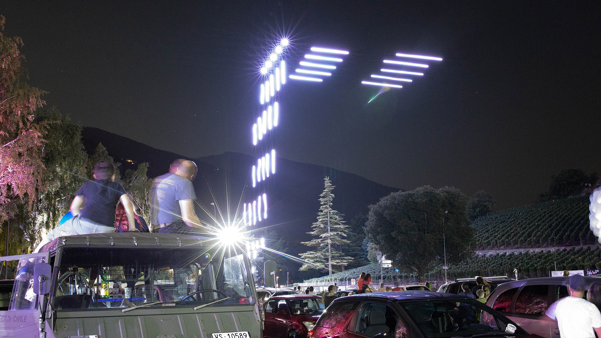 Drohnenshow - Schweiz - Sierre Brille 2020 - Swissdroneshow AG